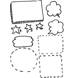 set frames hand drawn vector image