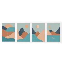 set trendy minimalist landscape vector image