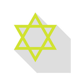 Shield magen david star symbol of israel pear vector