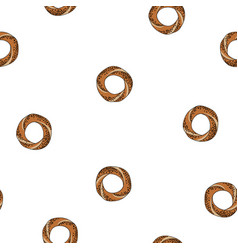 Simit bread seamless pattern vector