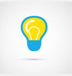 Single color light bulb vector