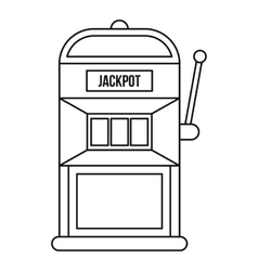 Slot machine icon outline style vector image