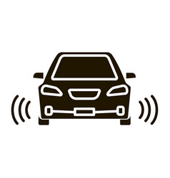 smart car in front view glyph icon vector image