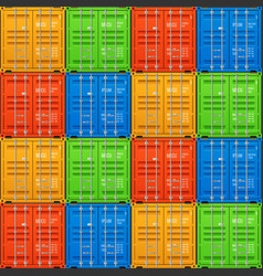 stacked cargo containers seamless vector image