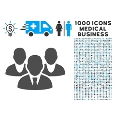 Staff Icon with 1000 Medical Business Symbols vector image