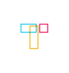 t letter logo icon vector image