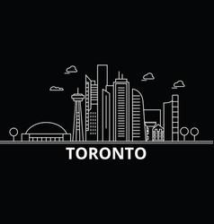 toronto silhouette skyline canada - toronto vector image