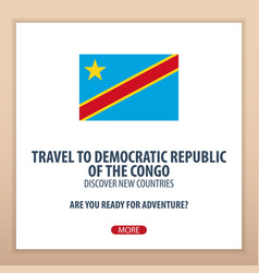 travel to democraticrepublic of the congo vector image