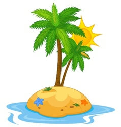 Tropical island cartoon vector