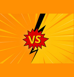 versus letters figh background in pop art style vector image