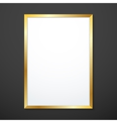 Vertical gold texture frame mockup vector