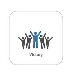 Victory Icon Flat Design vector image