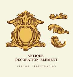 vintage architectural decoration elements vector image