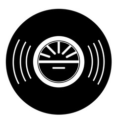 Vinyl record icon simple style vector