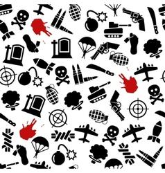 war seamless pattern vector image