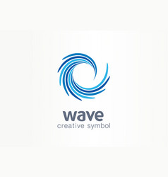 Water wave aqua whirlpool creative symbol vector