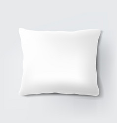 white pillow isolated white background vector image