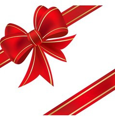 xmas ribbon vector image