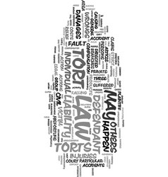you and the tort law a guide text word cloud vector image