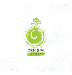 Zen spa wellness holistic retreat organic sign vector