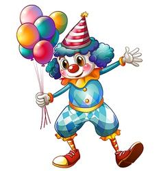 A clown holding balloons vector image vector image