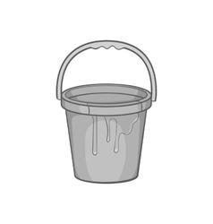 Bucket of paint icon black monochrome style vector image