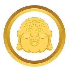 Budha head icon vector image