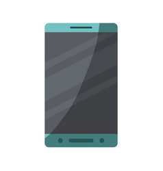 colorful silhouette of smartphone with half shadow vector image vector image