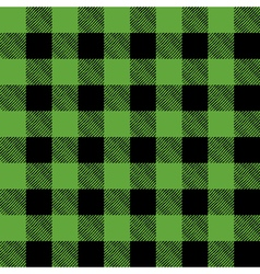 Green and Black Pattern Flannel Background vector image vector image