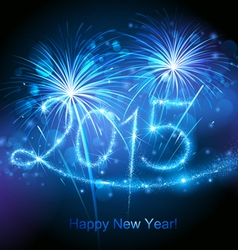 New Year 2015 fireworks vector image