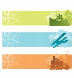 transport banners vector image