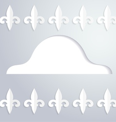 Background with a silhouette of cocked hat vector image vector image
