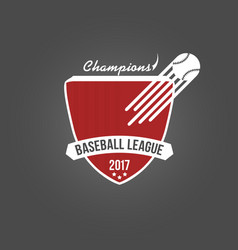 baseball badge league logo or template for vector image vector image