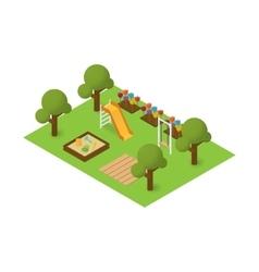 isometric playground vector image vector image