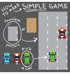 Pixel art style simple game objects set vector image vector image