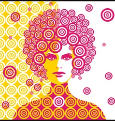 sixties woman vector image vector image