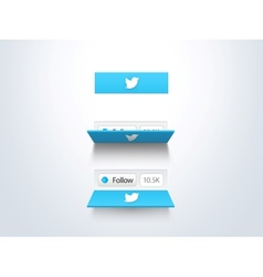 social media follow button and counter vector image