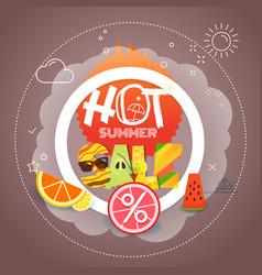 summer sale season discount banner vector image vector image