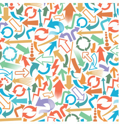 background pattern with arrows icons vector image vector image