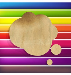 Colorful Background With Speech Bubble vector image vector image