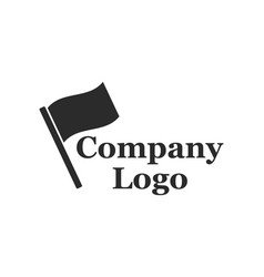 company logo with flag vector image vector image