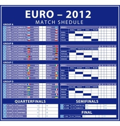 Euro 2012 matches vector image vector image