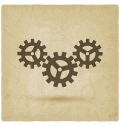 gear connected symbol industrial concept vector image