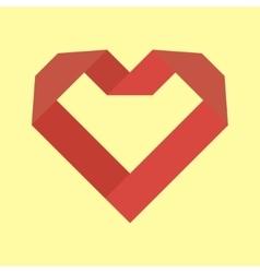 Heart icons logo vector image vector image