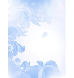 Blue Background of leaves vector image vector image