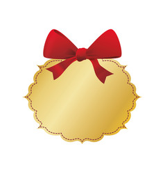 decorative bow ribbon vector image