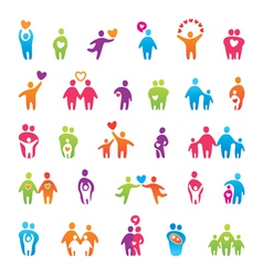 Family icons vector