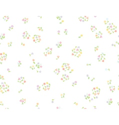 floral cute pattern vector image vector image