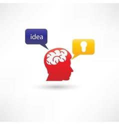 fresh interesting idea icon vector image vector image