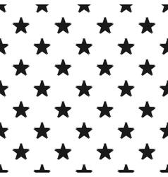 Grunge seamless pattern of black stars on white vector image